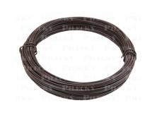 Viazací drôt 1,4/2,0 mm Zn + PVC (poplastovaný), hnedý, dĺžka 50 m